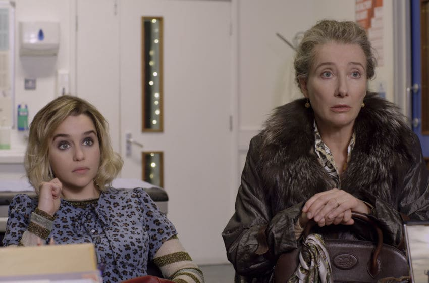 (from left) Kate (Emilia Clarke) and Petra (Emma Thompson) in