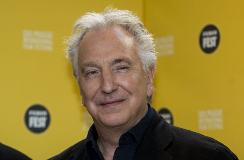 PRAGUE, CZECH REPUBLIC - MARCH 19: Alan Rickman poses at a photocall during the Febiofest Prague International Film Festival on March 19, 2015 in Prague, Czech Republic. (Photo by Matej Divizna/Getty Images)