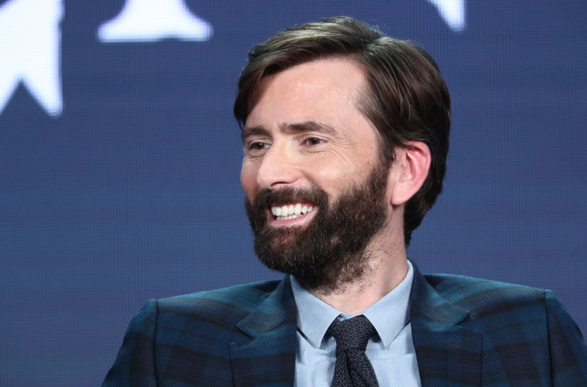 PASADENA, CALIFORNIA - FEBRUARY 13: David Tennant of the television show 'Good Omens' speaks during the Amazon Prime Video Session of the 2019 Winter Television Critics Association Press Tour at The Langham Huntington, Pasadena on February 13, 2019 in Pasadena, California. (Photo by Frederick M. Brown/Getty Images)