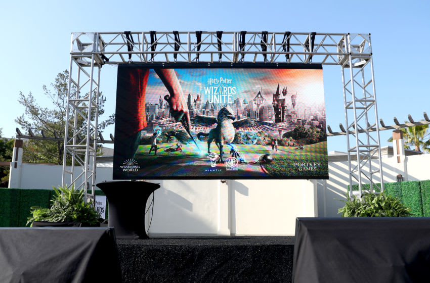 UNIVERSAL CITY, CALIFORNIA - JUNE 18: General view of the stage at the Harry Potter: Wizards Unite Celebration Event hosted by WB Games and Niantic, Inc. at Universal Studios Hollywood on June 18, 2019 in Universal City, California. (Photo by Joe Scarnici/Getty Images for WB Games)