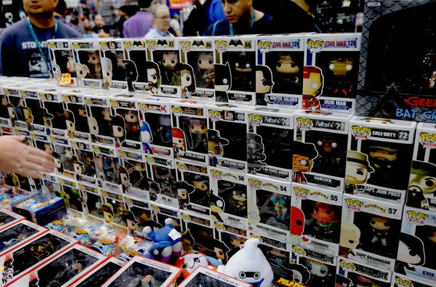 LOS ANGELES, CA - MARCH 25: Funko POP! figures are displayed during WonderCon 2016 at the Los Angeles Convention Center on March 25, 2016 in Los Angeles, California. (Photo by Frazer Harrison/Getty Images)