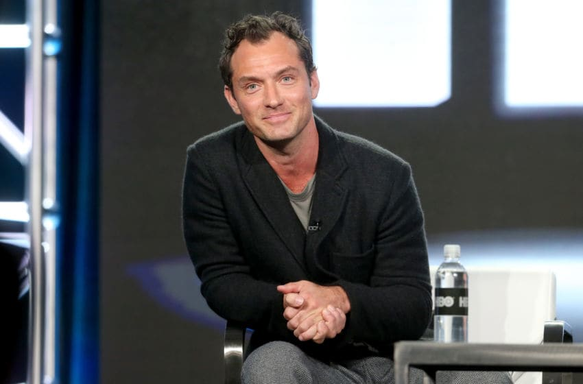 PASADENA, CA - JANUARY 14: Actor Jude Law of the series 'The Young Pope' speaks onstage during the HBO portion of the 2017 Winter Television Critics Association Press Tour at the Langham Hotel on January 14, 2017 in Pasadena, California. (Photo by Frederick M. Brown/Getty Images)