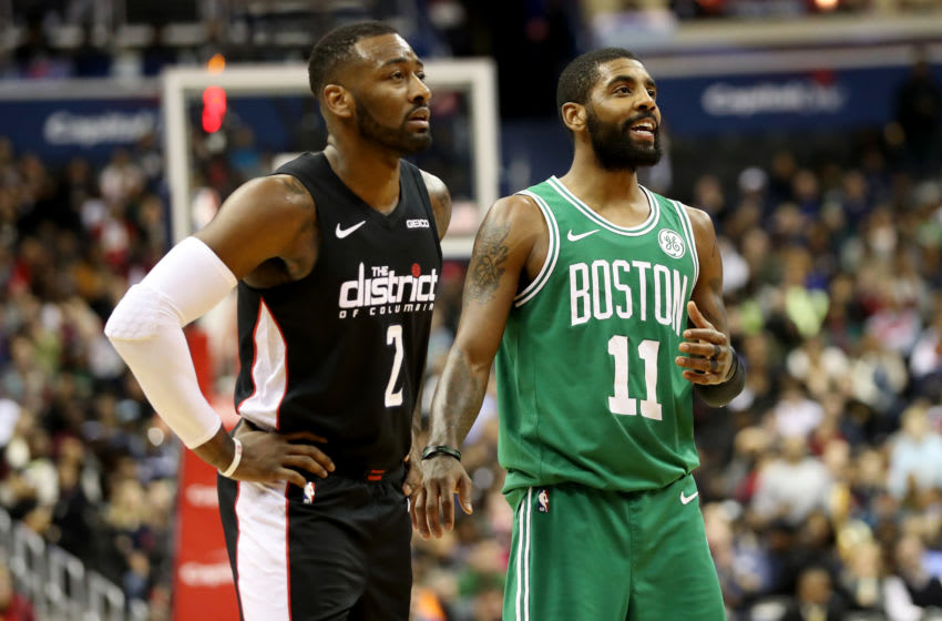 Washington Wizards John Wall Kyrie Irving (Photo by Rob Carr/Getty Images)