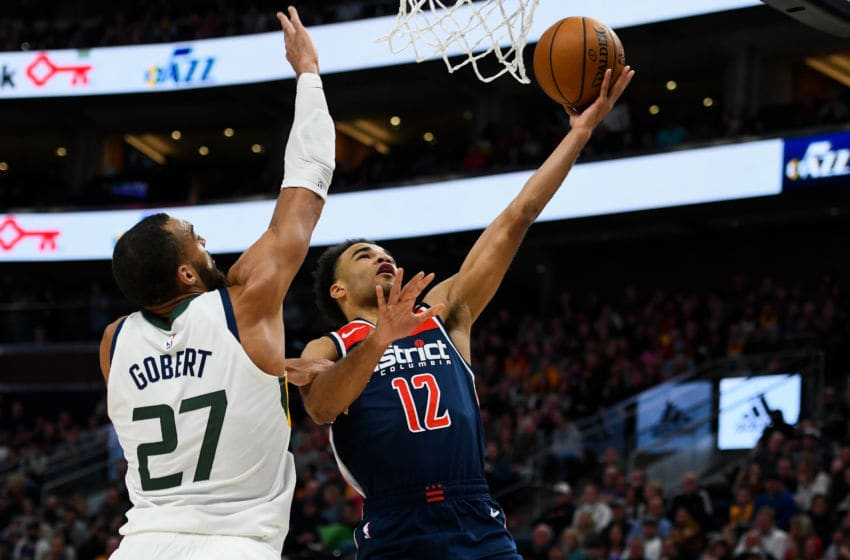Washington Wizards Rudy Gobert Jerome Robinson (Photo by Alex Goodlett/Getty Images)