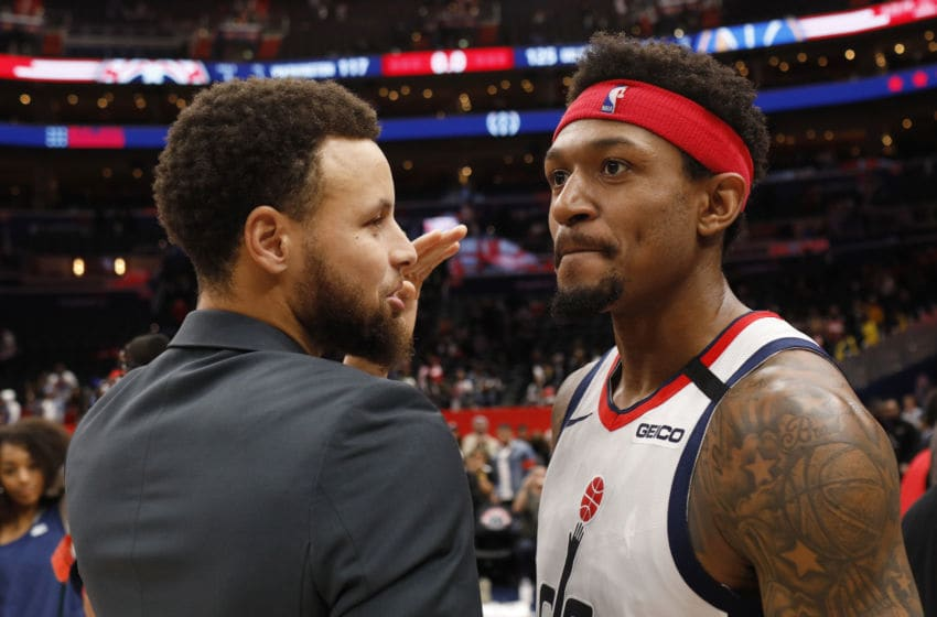 Washington Wizards Stephen Curry Bradley Beal (Photo by Patrick McDermott/Getty Images)