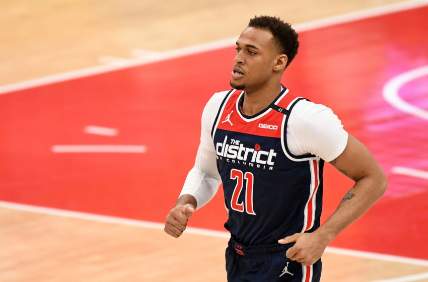 Daniel Gafford #21 of the Washington Wizards (Photo by Will Newton/Getty Images)