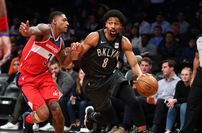 Washington Wizards Bradley Beal Spencer Dinwiddie. (Photo by Al Bello/Getty Images)