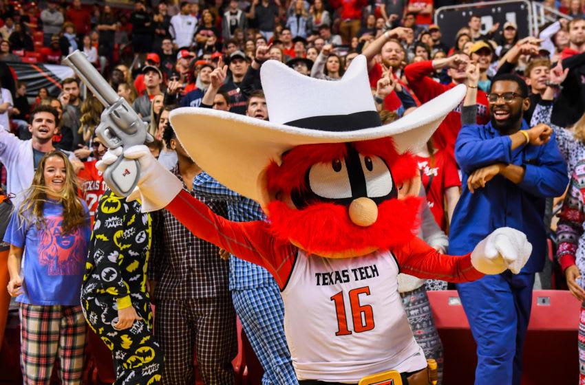 LUBBOCK, TX - FEBRUARY 16: Texas Tech Red Raiders mascot