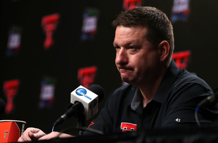 MINNEAPOLIS, MINNESOTA - APRIL 04: Head coach Chris Beard of the Texas Tech Red Raiders speaks to the media ahead of the Men's Final Four at U.S. Bank Stadium on April 04, 2019 in Minneapolis, Minnesota. (Photo by Maxx Wolfson/Getty Images)