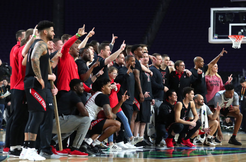 MINNEAPOLIS, MINNESOTA - APRIL 05: The Texas Tech Red Raiders acknowledge the fans during practice prior to the 2019 NCAA men's Final Four at U.S. Bank Stadium on April 5, 2019 in Minneapolis, Minnesota. (Photo by Tom Pennington/Getty Images)