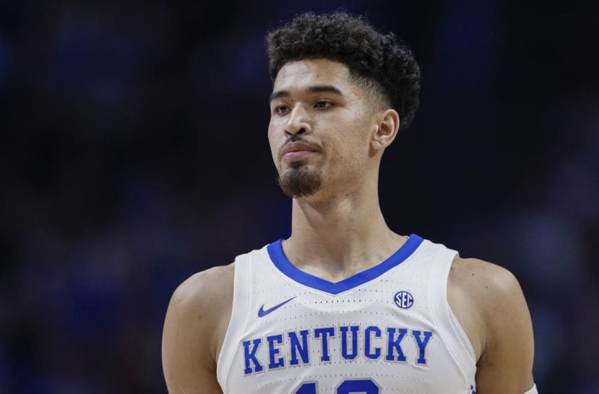 LEXINGTON, KY - DECEMBER 14: Johnny Juzang #10 of the Kentucky Wildcats is seen during the game against the Georgia Tech Yellow Jackets at Rupp Arena on December 14, 2019 in Lexington, Kentucky. (Photo by Michael Hickey/Getty Images)