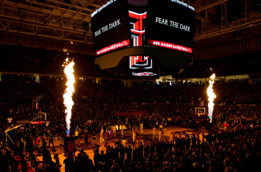 LUBBOCK, TEXAS - JANUARY 25: The Texas Tech Red Raiders are introduced before the college basketball game against the Kentucky Wildcats at United Supermarkets Arena on January 25, 2020 in Lubbock, Texas. (Photo by John E. Moore III/Getty Images)
