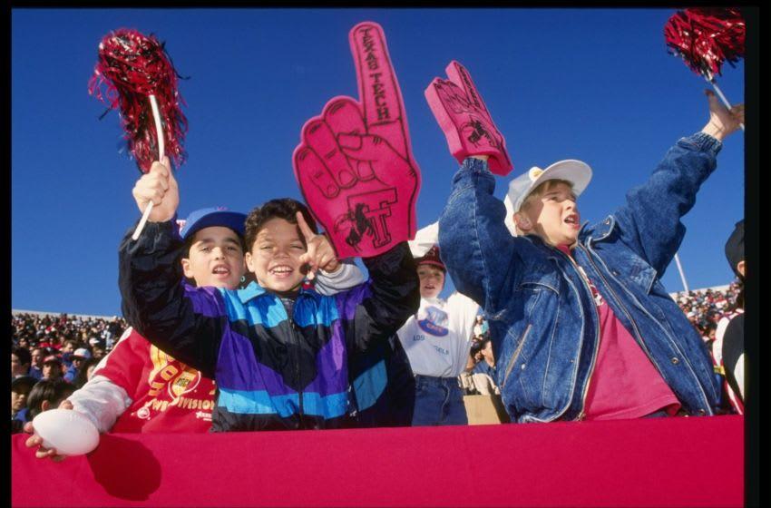 24 Dec 1993: Fans of the Texas Tech Red Raiders Mandatory Credit: Allsport /Allsport
