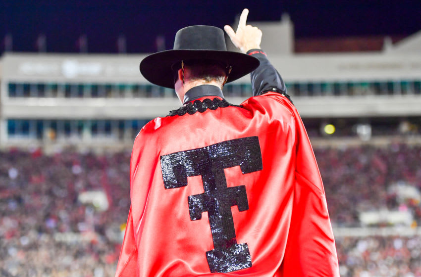 LUBBOCK, TX - OCTOBER 22: The Texas Tech Red Raiders mascot