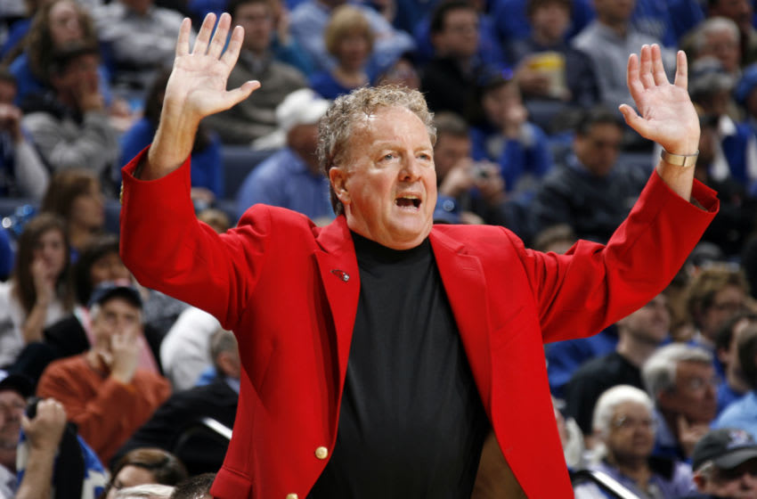 MEMPHIS, TN - MARCH 13: Tom Penders, head coach of the Houston Cougars during the Semifinals of the Conference USA Basketball Tournament at FedExForum on March 13, 2009 in Memphis, Tennessee. Memphis beat Houston 74-49. (Photo by Joe Murphy/Getty Images)