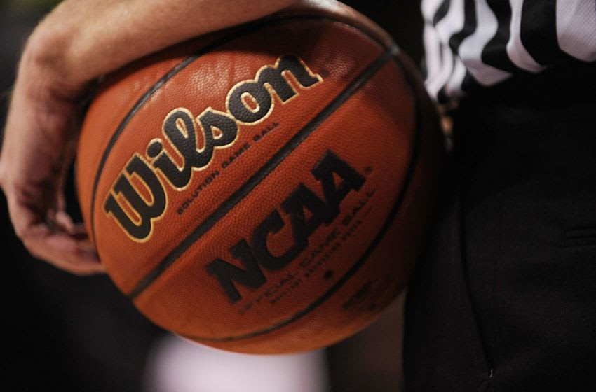 OKLAHOMA CITY - MARCH 13: A detail shot of a basketball during the Phillips 66 Big 12 Men's Basketball Championship Semifinals at the Ford Center March 13, 2009 in Oklahoma City, Oklahoma. (Photo by Ronald Martinez/Getty Images)