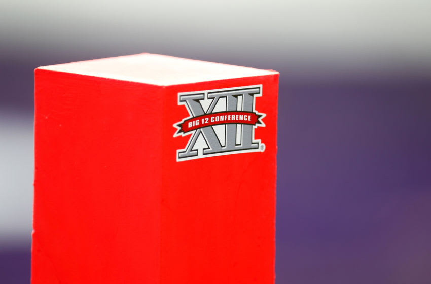 FORT WORTH, TX - SEPTEMBER 07: A Big XII logo is seen on a pylon during a game between the TCU Horned Frogs and the Southeastern Louisiana Lions at Amon G. Carter Stadium on September 7, 2013 in Fort Worth, Texas. (Photo by Sarah Glenn/Getty Images)