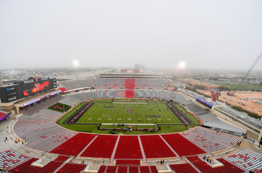 LUBBOCK, TX - NOVEMBER 05: General view of Jones AT&T Stadium before the game between the Texas Tech Red Raiders and the Texas Longhorns on November 5, 2016 at AT&T Jones Stadium in Lubbock, Texas. Texas defeated Texas Tech 45-37. (Photo by John Weast/Getty Images)