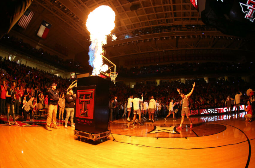 Jan 5, 2019; Lubbock, TX, USA; Introductions before the game between the Texas Tech Red Raiders and the Kansas State Wildcats at United Supermarkets Arena. Mandatory Credit: Michael C. Johnson-USA TODAY Sports