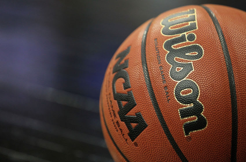 TULSA, OK - MARCH 20: A view of the ball during the third round game between the Illinois Fighting Illini and the Kansas Jayhawks in the 2011 NCAA men's basketball tournament at BOK Center on March 20, 2011 in Tulsa, Oklahoma. (Photo by Ronald Martinez/Getty Images)