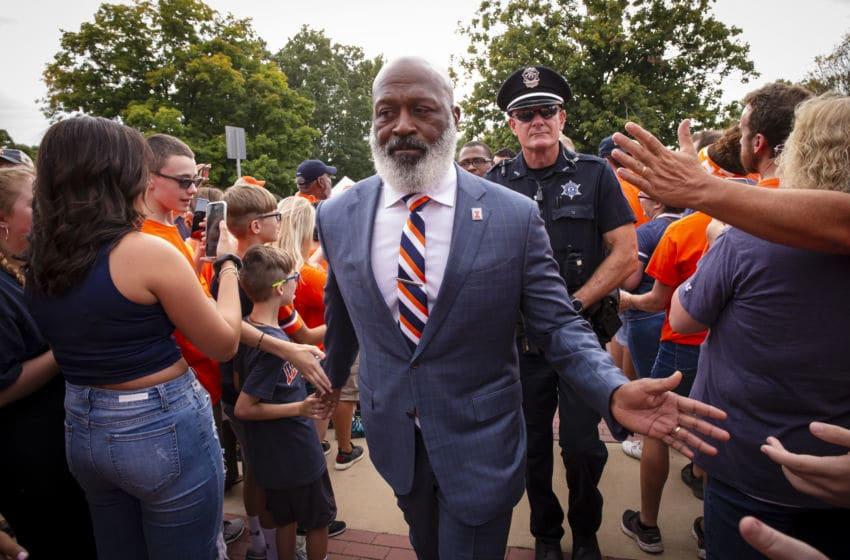 CHAMPAIGN, IL - SEPTEMBER 21: Head coach Lovie Smith of the Illinois Fighting Illini is seen before the game against the Nebraska Cornhuskers at Memorial Stadium on September 21, 2019 in Champaign, Illinois. (Photo by Michael Hickey/Getty Images)