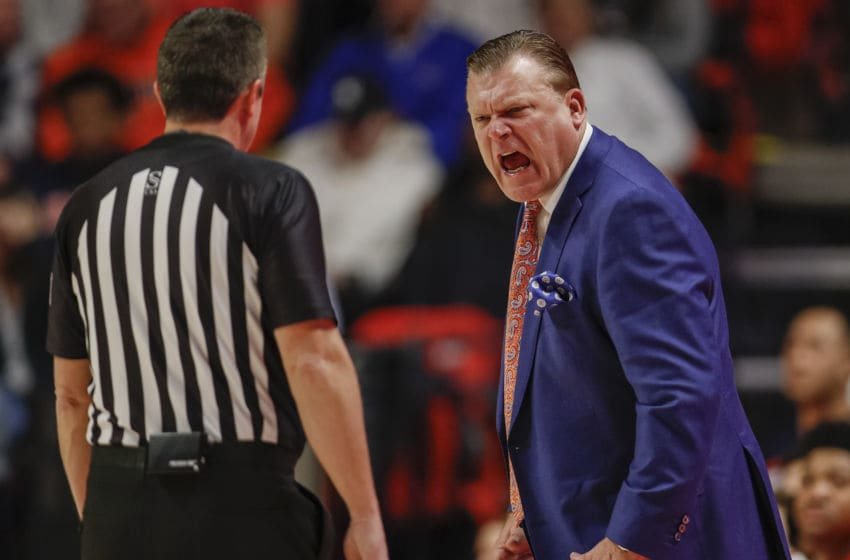 CHAMPAIGN, IL - DECEMBER 02: Head coach Brad Underwood of the Illinois Fighting Illini is seen during the game against the Miami (Fl) Hurricanes at State Farm Center on December 2, 2019 in Champaign, Illinois. (Photo by Michael Hickey/Getty Images)