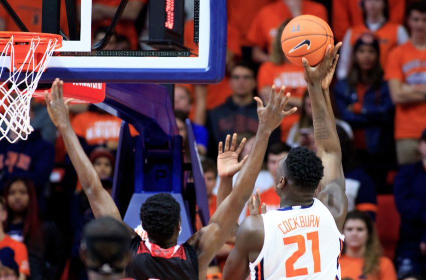 CHAMPAIGN, ILLINOIS - NOVEMBER 05: Kofi Cockburn #21 of the Illinois Fighting Illini shoots the ball during the game against the Nicholls State Colonels at State Farm Center on November 05, 2019 in Champaign, Illinois. (Photo by Justin Casterline/Getty Images)