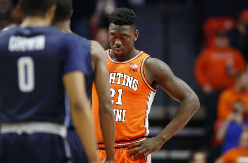 CHAMPAIGN, ILLINOIS - DECEMBER 14: Kofi Cockburn #21 of the Illinois Fighting Illini on the court in the game against the Old Dominion Monarchs during the first half at State Farm Center on December 14, 2019 in Champaign, Illinois. (Photo by Justin Casterline/Getty Images)