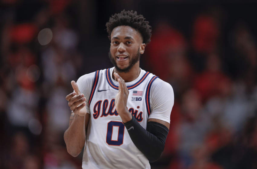 CHAMPAIGN, IL - FEBRUARY 07: Alan Griffin #0 of the Illinois Fighting Illini is seen during the game against the Maryland Terrapins at State Farm Center on February 7, 2020 in Champaign, Illinois. (Photo by Michael Hickey/Getty Images)