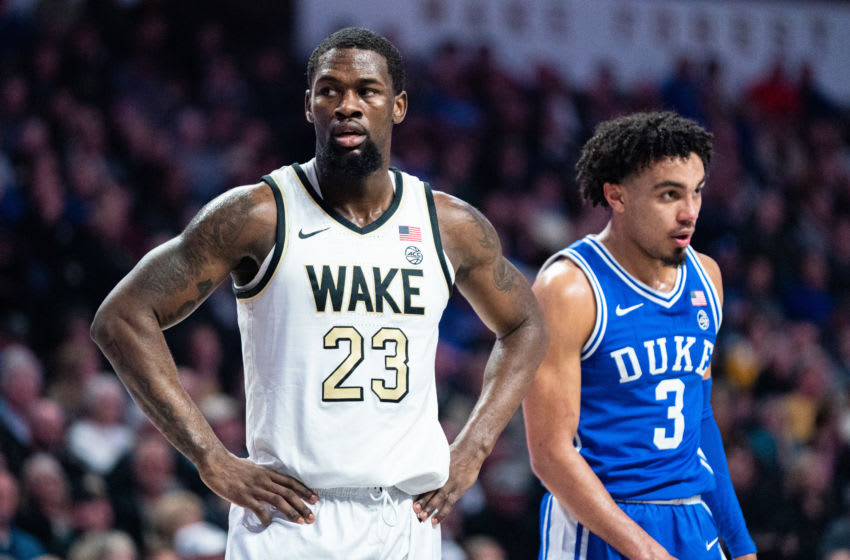WINSTON-SALEM, NORTH CAROLINA - FEBRUARY 25: Chaundee Brown #23 of the Wake Forest Demon Deacons during the first half during their game against the Duke Blue Devils at LJVM Coliseum Complex on February 25, 2020 in Winston-Salem, North Carolina. (Photo by Jacob Kupferman/Getty Images)
