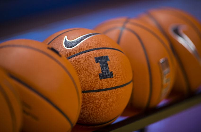 CHAMPAIGN, IL - DECEMBER 06: General view of Illinois Fighting Illini basketballs seen before the game against the IUPUI Jaguars at State Farm Center on December 6, 2016 in Champaign, Illinois. (Photo by Michael Hickey/Getty Images)