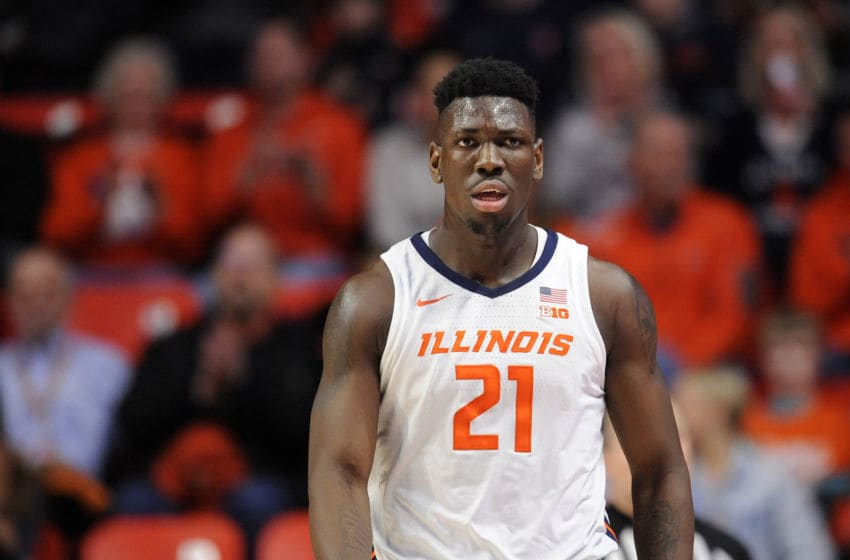 CHAMPAIGN, IL - JANUARY 30: Illinois Fighting Illini center KofiCockburn (21) walks across the court during the Big Ten Conference college basketball game between the Minnesota Golden Gophers and the Illinois Fighting Illini on January 30, 2020, at the State Farm Center in Champaign, Illinois. (Photo by Michael Allio/Icon Sportswire via Getty Images)