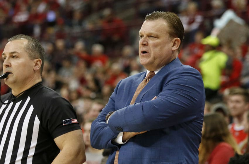 COLUMBUS, OHIO - MARCH 05: Head coach Brad Underwood of the Illinois Fighting Illini watches his team in the game against the Ohio State Buckeyes at Value City Arena on March 05, 2020 in Columbus, Ohio. (Photo by Justin Casterline/Getty Images)