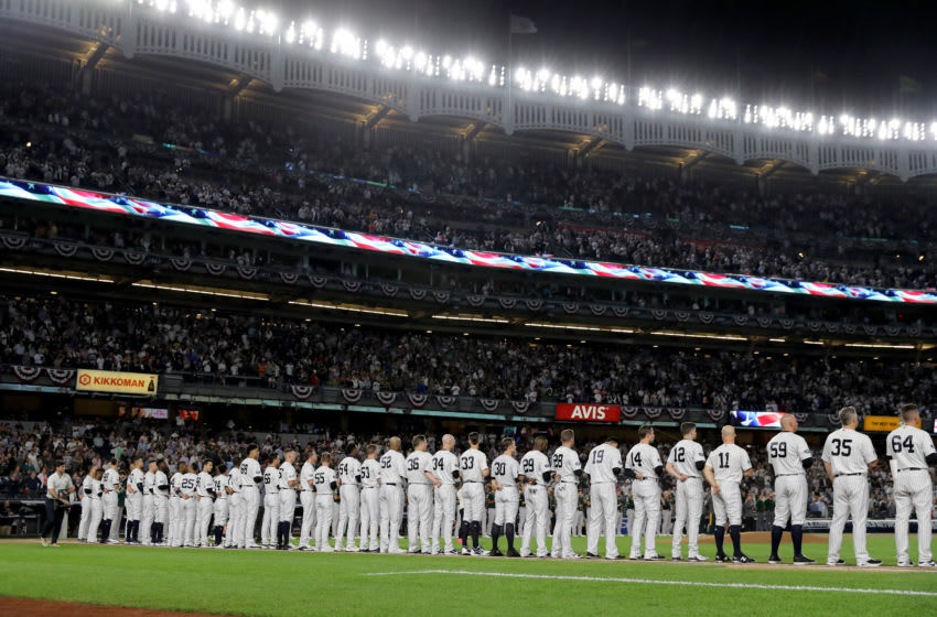 The New York Yankees. (Photo by Elsa/Getty Images)