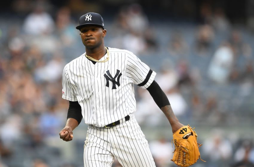 Domingo German #55 of the New York Yankees (Photo by Sarah Stier/Getty Images)