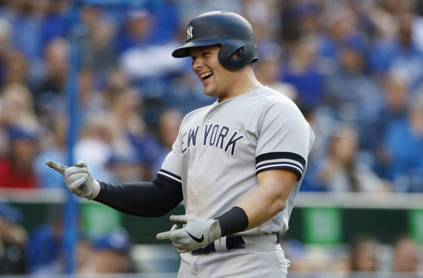 Luke Voit of the New York Yankees (Photo by Cole Burston/Getty Images)