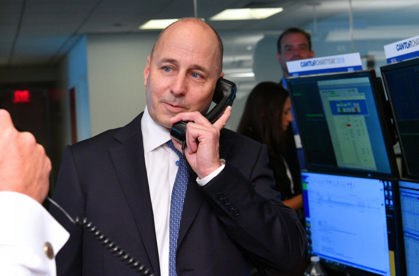 Yankees GM Brian Cashman attends the Annual Charity Day (Photo by Dia Dipasupil/Getty Images for Cantor Fitzgerald)