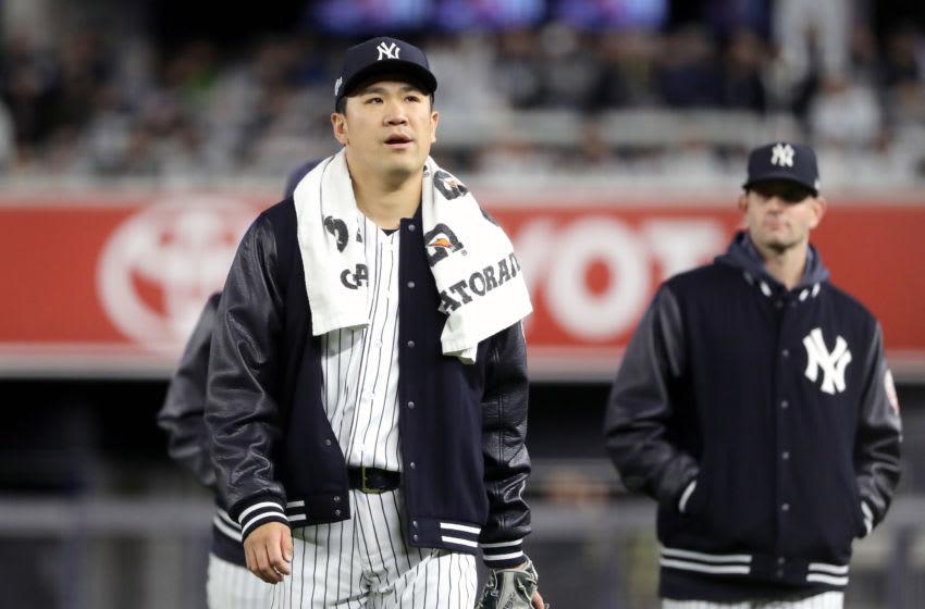 Masahiro Tanaka #19 of the New York Yankees (Photo by Elsa/Getty Images)