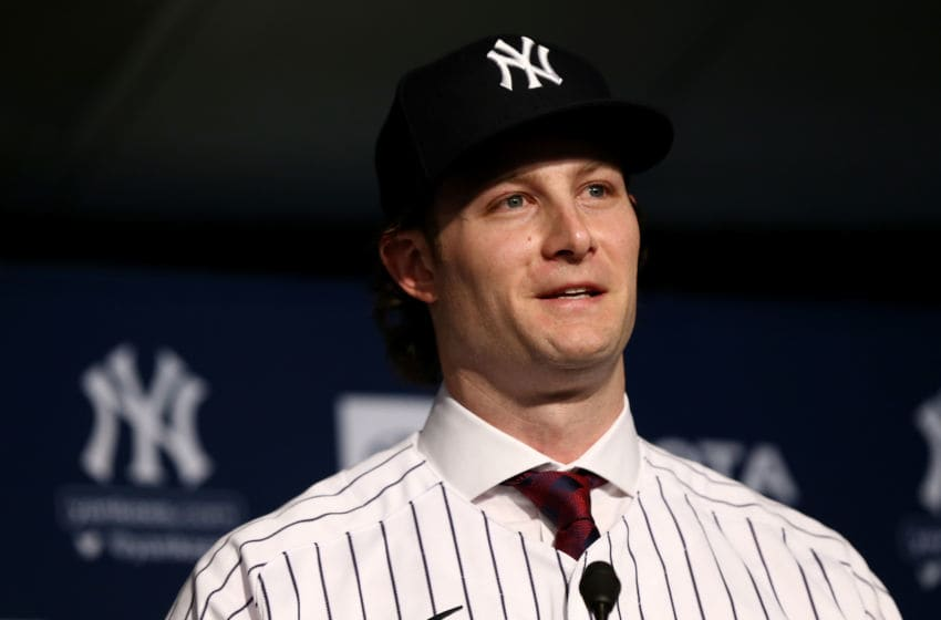 NEW YORK, NEW YORK - DECEMBER 18: Gerrit Cole speaks to the media at Yankee Stadium during a press conference at Yankee Stadium on December 18, 2019 in New York City. (Photo by Mike Stobe/Getty Images)