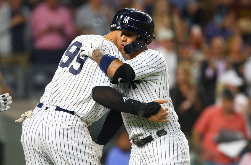 Gleyber Torres and Aaron Judge of the New York Yankees (Photo by Mike Stobe/Getty Images)