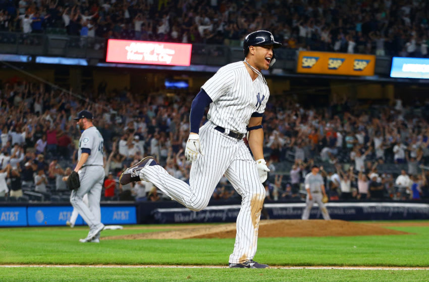 New York Yankees outfielder Giancarlo Stanton (Photo by Mike Stobe/Getty Images)