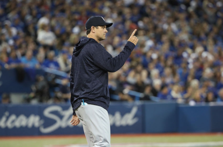 TORONTO, ON - MARCH 29: Manager Aaron Boone