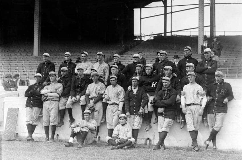 The New York Yankees (baseball) april 4, 1913. (Photo by APIC/Getty Images)