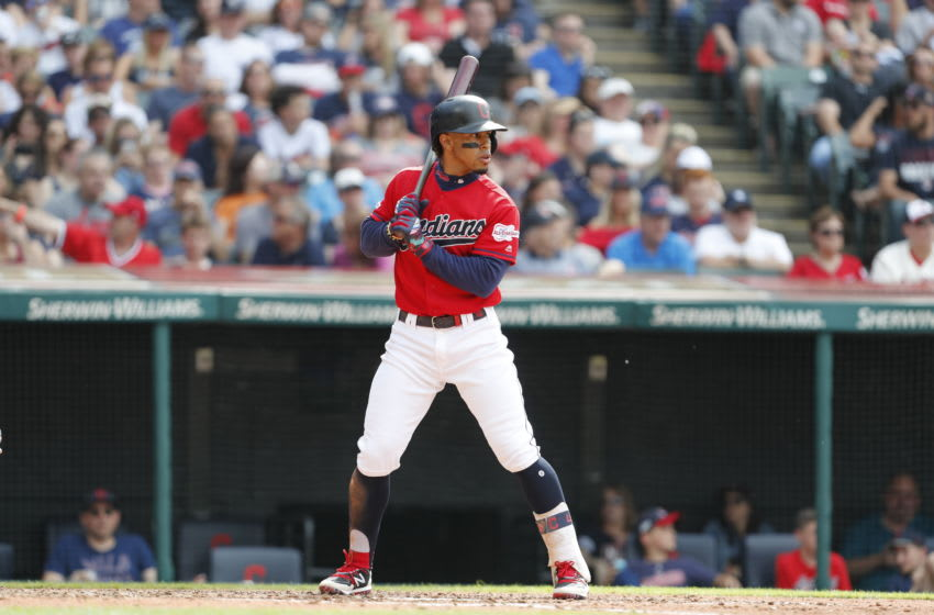 CLEVELAND, OH - JUNE 08: Francisco Lindor #12 of the Cleveland Indians bats against the New York Yankees in the third inning at Progressive Field on June 8, 2019 in Cleveland, Ohio. The Indians defeated the Yankees 8-4.(Photo by David Maxwell/Getty Images)