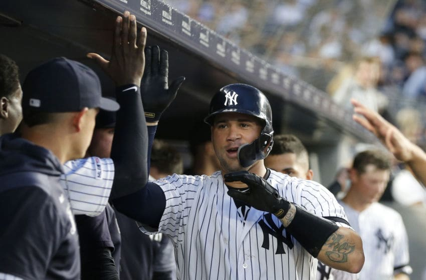 NEW YORK, NEW YORK - JUNE 20: Gary Sanchez #24 of the New York Yankees celebrates his fourth inning home run against the Houston Astros at Yankee Stadium on June 20, 2019 in New York City. (Photo by Jim McIsaac/Getty Images)