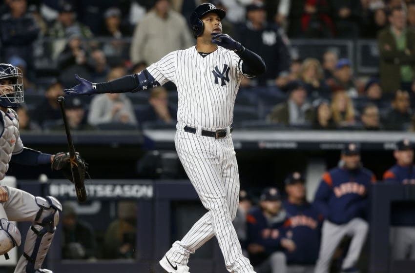 New York Yankees OF Aaron Hicks (Photo by Jim McIsaac/Getty Images)
