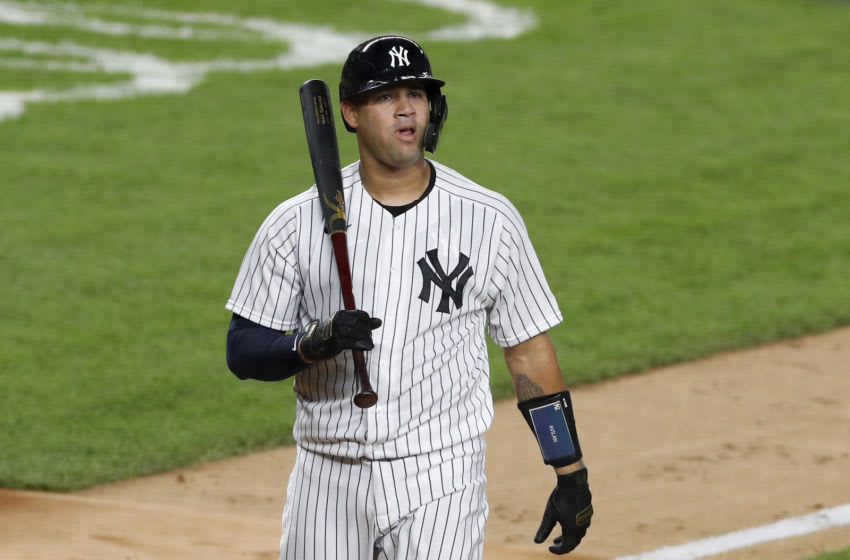 Gary Sanchez #24 of the New York Yankees in action against the Boston Red Sox at Yankee Stadium on August 01, 2020 in New York City. The Yankees defeated the Red Sox 5-2. (Photo by Jim McIsaac/Getty Images)