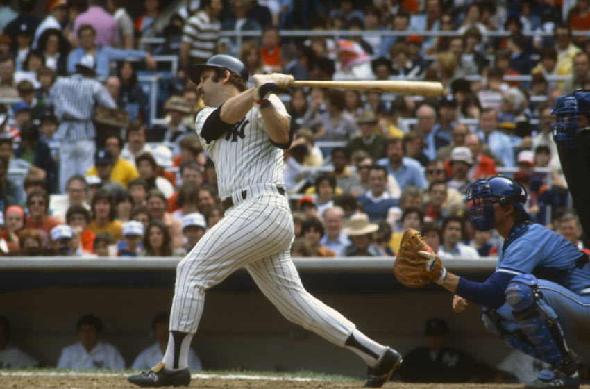 Thurman Munson #15 of the New York Yankees - (Photo by Focus on Sport/Getty Images)
