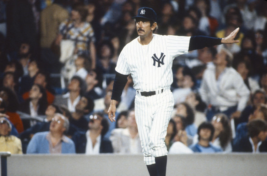 Manager Billy Martin #1 of the New York Yankees - (Photo by Focus on Sport/Getty Images)