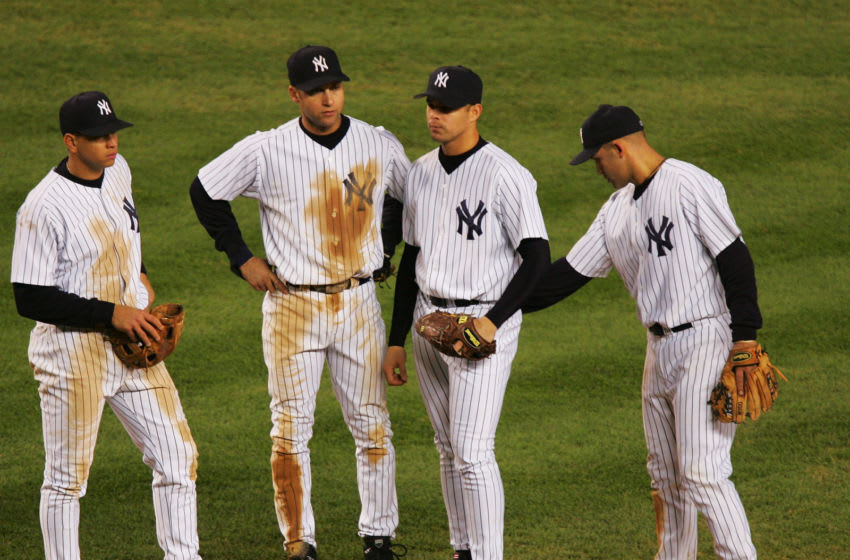 The 2004 New York Yankees lose the ALCS to the Boston Red Sox (Photo by Ezra Shaw/Getty Images)